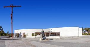fatima ・葡萄牙圣所 多数三位一体大教堂  库存照片