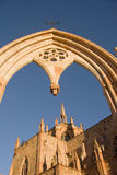 Fatima church. Gothic architecture of fatima church at Zacatecas stock photo