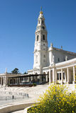 Fatima Church. Frente da Igreja de Fátima em Portugal, uma das mais importantes e populares santas da Igreja católicas com milhões de devotos Royalty Free Stock Photos