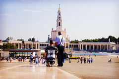 Fatima - a city in Portugal. One of the centers of Christian pil Royalty Free Stock Photography