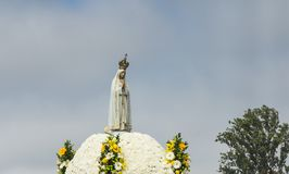 FATIMA, PORTUGAL - June 13, 2018: Church ceremonies related to t. Church ceremonies related to the apparitions of Our Lady of Fatima, Portugal. Among the bishops Stock Photos
