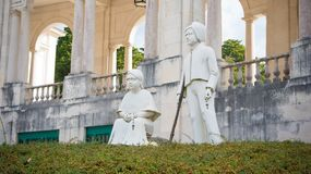 Statue of kids, Fatima, Portugal royalty free stock photos