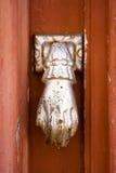 Fatima's hand - doorknocker in Portugal. Stock Photos