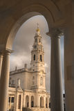 Fatima. Shrine of Fatima in Portugal with Abbey shooting from a bow Stock Photography