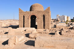 Fatimid kyrkogård - Aswan, Egypten arkivfoto