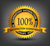 Fatisfaction garantizó el ejemplo del vector de la escritura de la etiqueta Fotografía de archivo libre de regalías