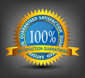 Fatisfaction guaranteed label vector illustration Stock Images