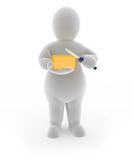 Fatman. A 3D Fatman holding butter and knife Stock Photography