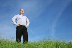 Fatman on a meadow Royalty Free Stock Photos