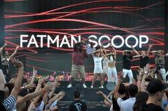 Fatman Scoop live concert Royalty Free Stock Image
