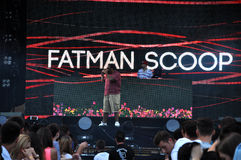 Fatman Scoop-Livekonzert Lizenzfreie Stockfotos