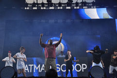 Fatman Scoop-Livekonzert Stockfoto