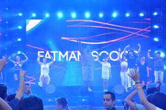 Fatman Scoop-Livekonzert Stockbild