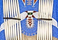 Fato do nativo americano imagem de stock