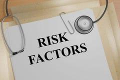 Fatores de risco - conceito médico ilustração do vetor