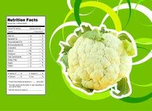 Fatos da nutrição da couve-flor ilustração royalty free