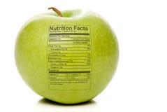 Fatos da nutrição de Apple Foto de Stock Royalty Free
