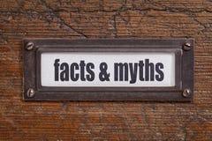 Fatos e mitos Fotografia de Stock