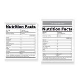 Fatos etiqueta ou etiqueta da nutrição Imagem de Stock Royalty Free