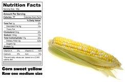 Fatos nutritivos do milho Fotos de Stock Royalty Free
