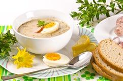 Fatsoenlijke Poolse soep royalty-vrije stock afbeeldingen