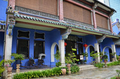 Fatt Tze Mansion or Blue Mansion in Georgetown, Penang, Malaysia Stock Image