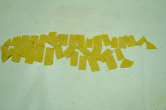 Fatta delle lasagne al forno della pasta in casa Immagine Stock