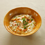 Fatta Hummus. Chickpeas, yogurt and grilled breadcrumbs, lebanese cuisine stock images