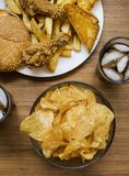 Fattening and unhealthy fast food stock photo