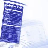 Fatti di nutrizione Fotografia Stock