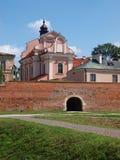 Fattig Clares kyrka och kloster, ‡ för ZamoÅ› Ä, Polen royaltyfri fotografi