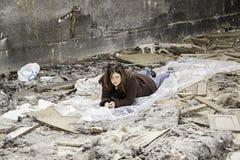 Fattig flicka Arkivbild