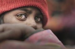 Fattiga barn från Bihar Arkivbild