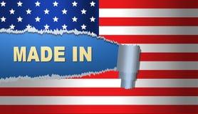 Fatto in America, bandiera, illustrazione Fotografia Stock Libera da Diritti