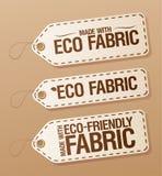 Fatto con i contrassegni ecologici del tessuto. Immagine Stock