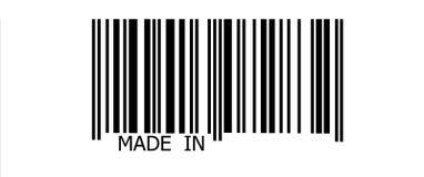 Fatto dentro sul codice a barre Immagine Stock Libera da Diritti
