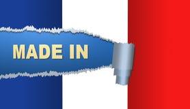 Fatto in Francia, bandiera, illustrazione Immagini Stock