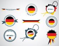 Fatto in Germania - guarnizioni, distintivi Fotografia Stock Libera da Diritti