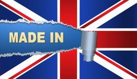 Fatto in Gran-Bretagna, bandiera, illustrazione Immagine Stock