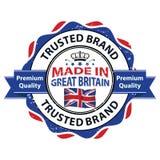 Fatto in Gran Bretagna, marca di fiducia, qualità premio Immagini Stock