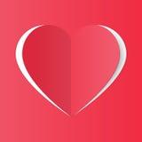 Fatto a mano di carta del cuore Illustrazione Vettoriale