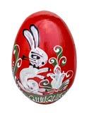 Fatto a mano di legno dell'uovo di Pasqua dipinto Immagine Stock Libera da Diritti