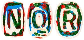 Fatto a mano variopinto delle lettere bianche dell'argilla Immagine Stock Libera da Diritti