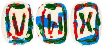 Fatto a mano variopinto delle lettere bianche dell'argilla Immagini Stock Libere da Diritti