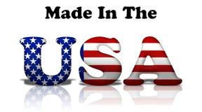 Fatto negli S.U.A. Immagini Stock Libere da Diritti