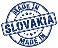fatto nel bollo blu di lerciume della Slovacchia Fotografia Stock Libera da Diritti