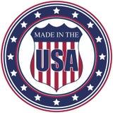 Fatto nel bollo degli S.U.A. Fotografia Stock