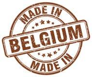Fatto nel bollo del Belgio illustrazione di stock