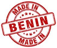 fatto nel bollo del Benin Illustrazione di Stock
