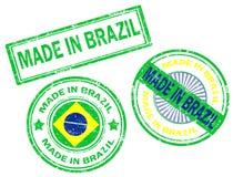 Fatto nel bollo del Brasile fotografia stock